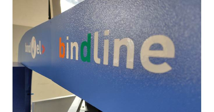 Bindline is the trademark of Impel-Welbound, the inline binder from Impel was introduced in 2018. The Bindline consisting of the Signa 4K signature gatherer with Stacker, in feed into the binder, Freedom 4K perfect binder, delivery on to conveyor - where it can be connected to any inline trimmer including the Trimit 30C. The solution stands out from any similar binder globally, as it occupies the minimal space and consumes the lowest energy to delivery the same throughput of books, in its class